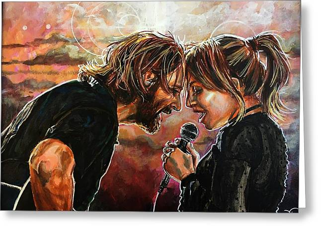 Greeting Card featuring the painting Always Remember Us This Way by Joel Tesch