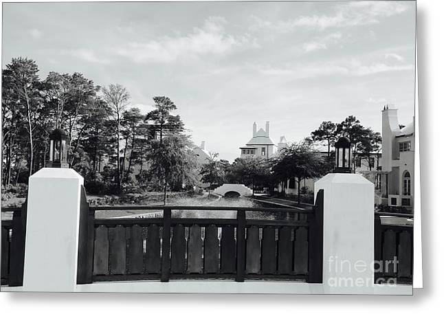 Alys Beach Black And White Greeting Card