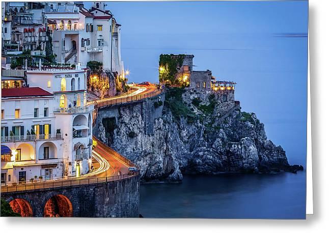 Amalfi Coast Italy Nightlife Greeting Card
