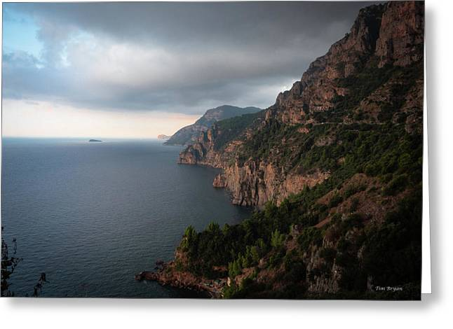 Greeting Card featuring the photograph Amalfi Coast, Italy by Tim Bryan