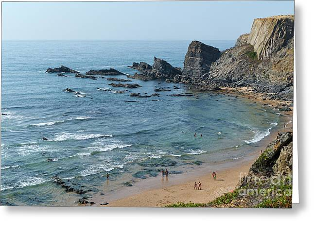 Amalia Beach From Cliffs Greeting Card