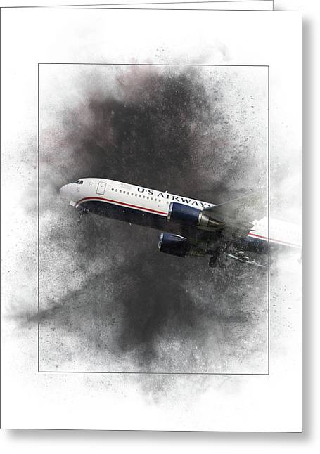American Airlines Boeing 767-200 Painting Greeting Card