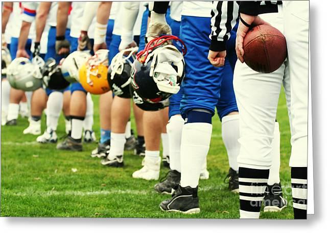 American Football Equipment - Helmet Greeting Card