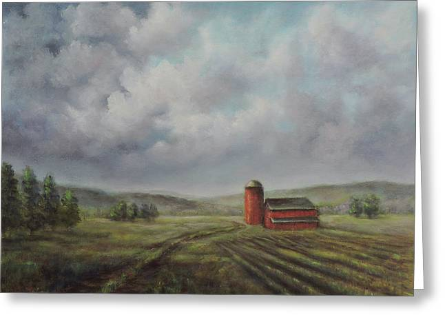 American Scene Red Barn  Greeting Card