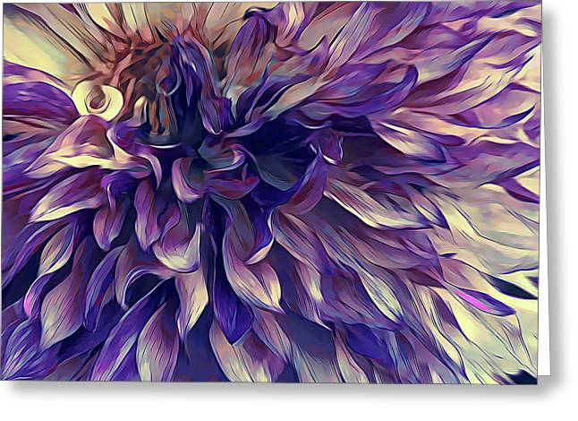 Amethyst Bloom Greeting Card