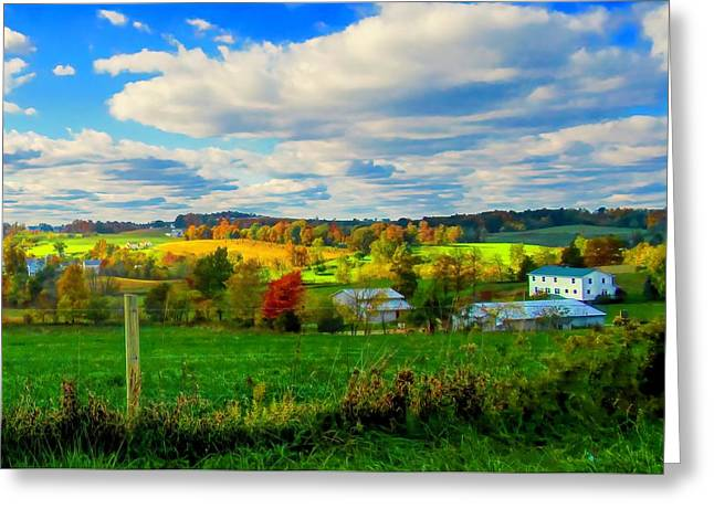 Amish Farm Beauty Greeting Card