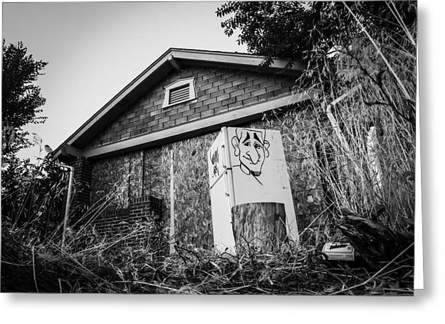An Abandoned Home With A Personality  Greeting Card