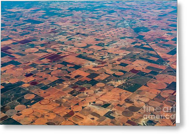 An Aerial View Of Massive Farmland With Greeting Card