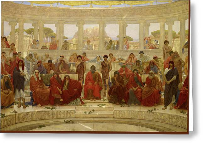 An Audience In Athens During The Representation Of Agamemnon By Aeschylus Greeting Card