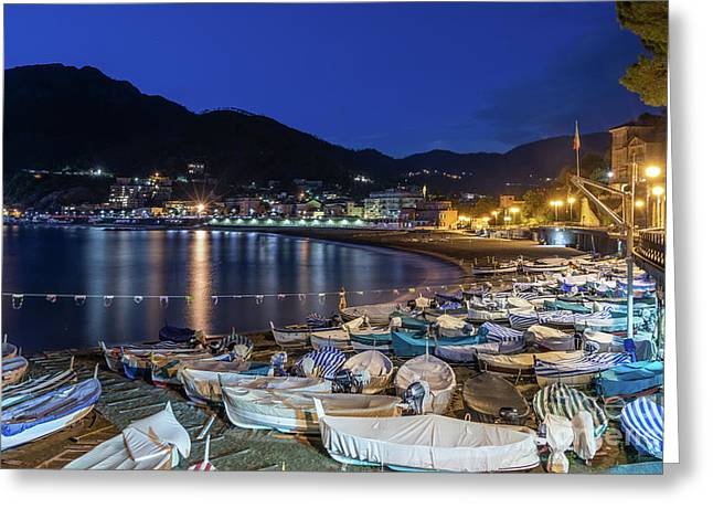 An Evening In Levanto Greeting Card