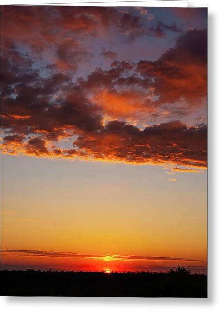 An Oklahoma Sunsrise Greeting Card