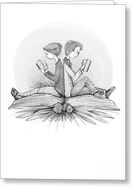 An Open Book Greeting Card