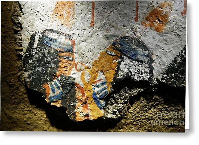 Greeting Card featuring the photograph Ancient Egypt Art  by Sue Harper