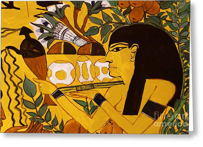 Greeting Card featuring the photograph Ancient Egypt Man by Sue Harper