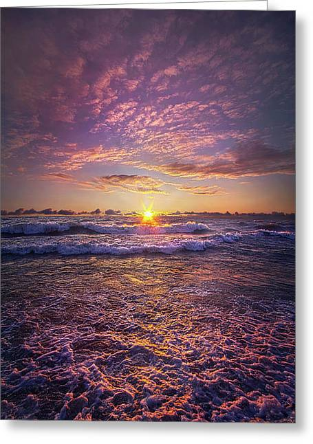 Greeting Card featuring the photograph And Then Begin Again by Phil Koch