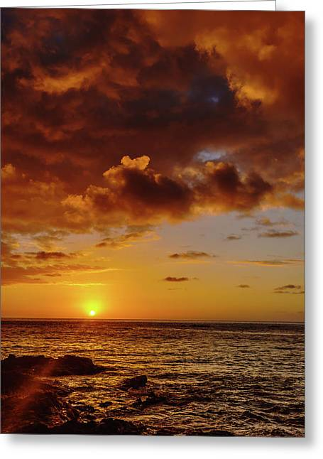 And Then The Sun Set Greeting Card