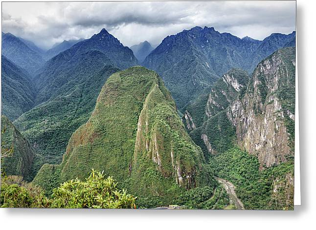 Greeting Card featuring the photograph Andes Overlook by Jon Exley