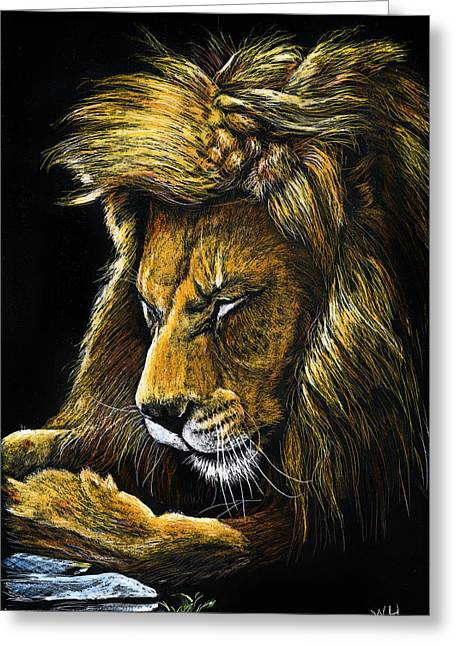 Androcles' Lion Greeting Card