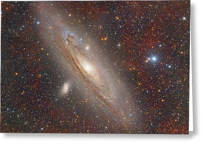 Andromeda With Hydrogen Clouds Greeting Card