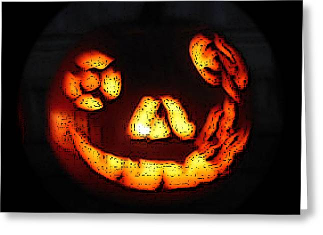 Andy's Jack O Lantern Greeting Card