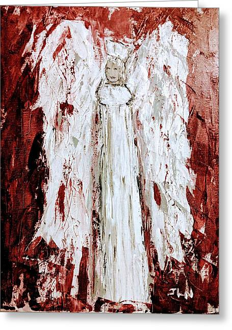Angel Against Violence Greeting Card