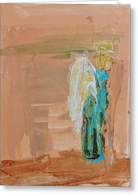 Angel Boy In Time Out  Greeting Card