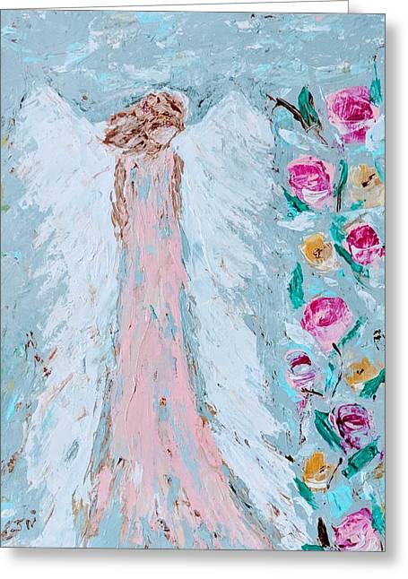 Angel For Childbirth And Greeting Card
