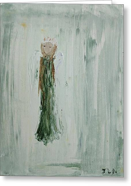 Angel In Green Greeting Card