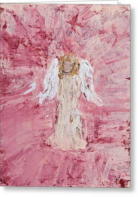 Angel Was Lost But Now Is Found  Greeting Card