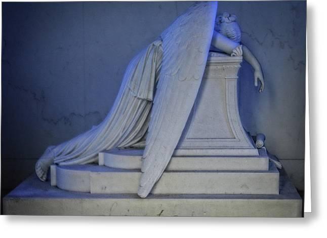 Angel Weeping Greeting Card