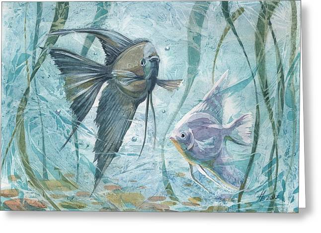 Angelfishes Greeting Card