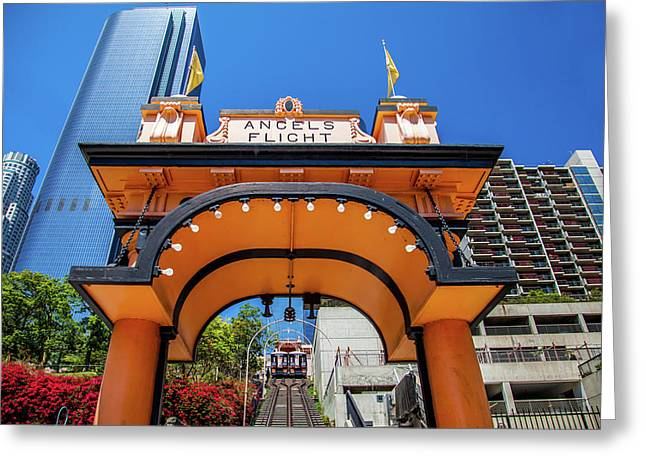 Angels Flight Greeting Card