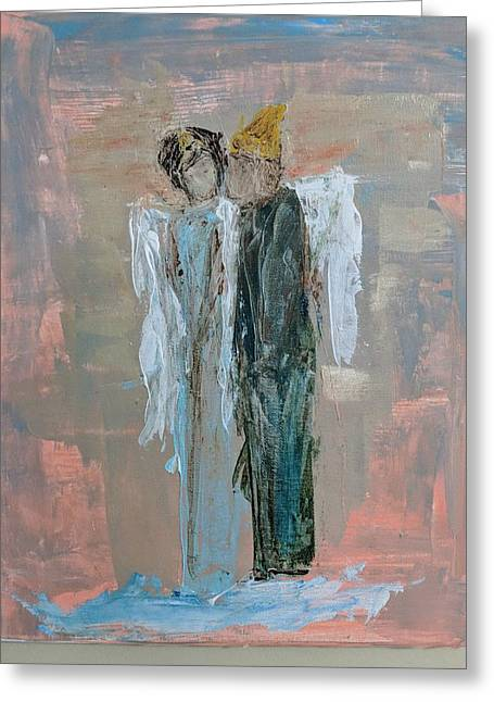 Angels In Love Greeting Card