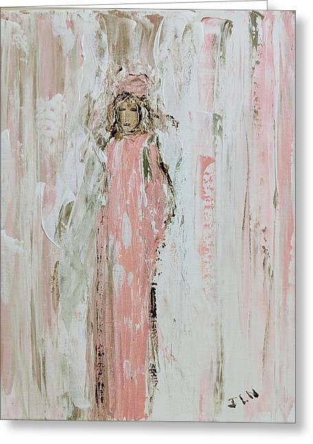Angels In Pink Greeting Card