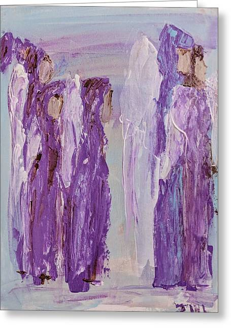 Angels In Purple Greeting Card