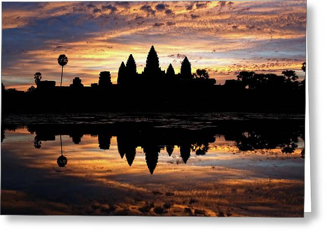 Greeting Card featuring the photograph Angkor Wat Sunrise by Nicole Young