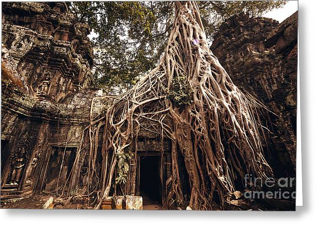 Angkor Wat Temple In Siem Reap, Cambodia Greeting Card