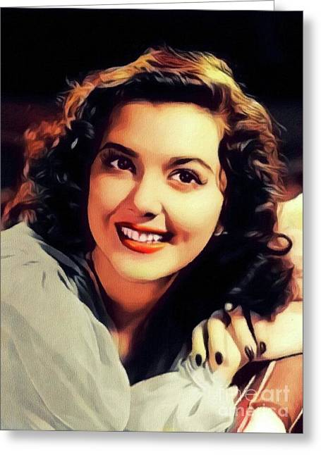 Ann Rutherford, Vintage Actress Greeting Card
