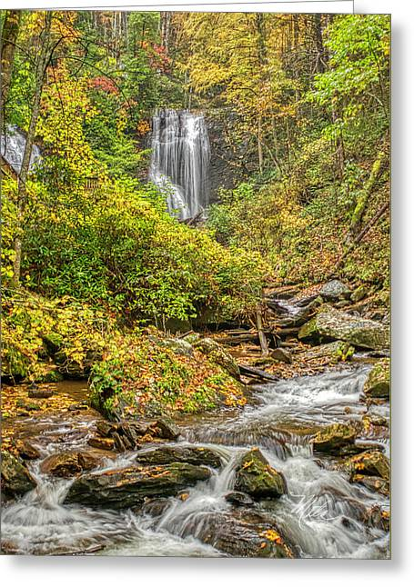 Greeting Card featuring the photograph Anna Ruby Falls Stream by Meta Gatschenberger
