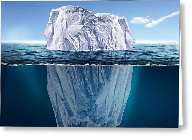 Antarctic Iceberg In The Ocean Greeting Card