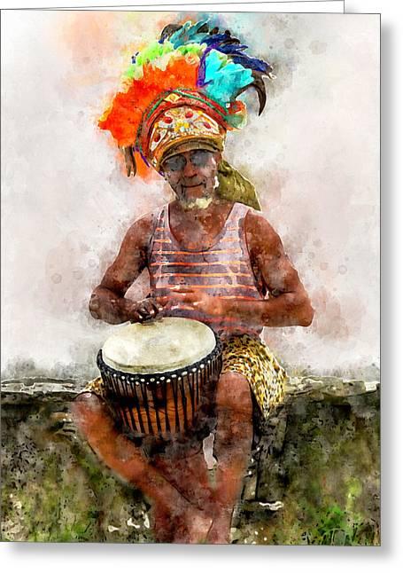Antiguan Drummer Greeting Card