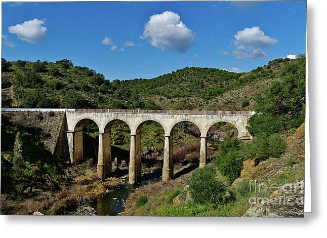 Antique Mertola's Bridge In Alentejo Greeting Card