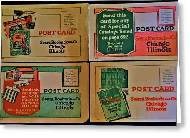 Antique Sears Post Cards Greeting Card