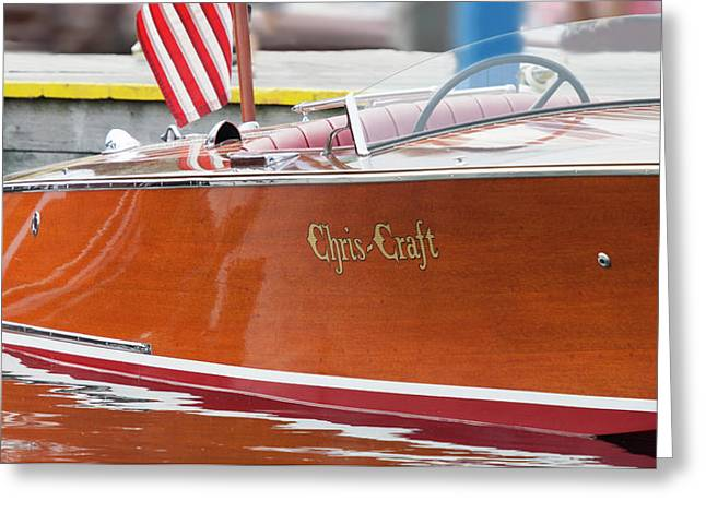 Greeting Card featuring the photograph Antique Wooden Boat 1305 by Rick Veldman