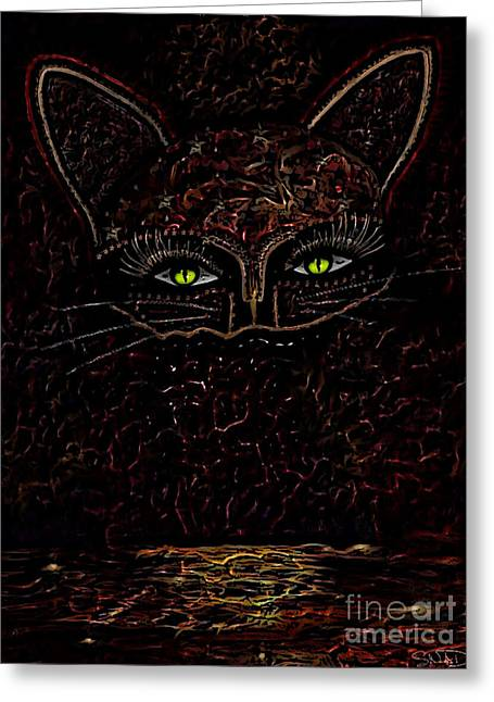Appearance Of The Mystic Cat Greeting Card