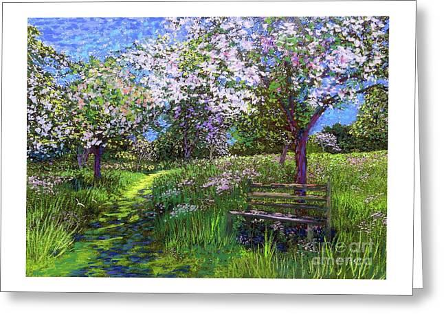 Apple Blossom Trees Greeting Card