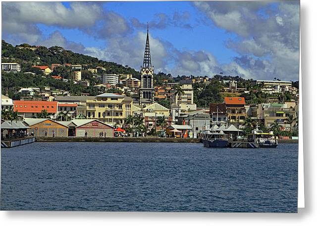 Greeting Card featuring the photograph Approaching Fort De France by Tony Murtagh
