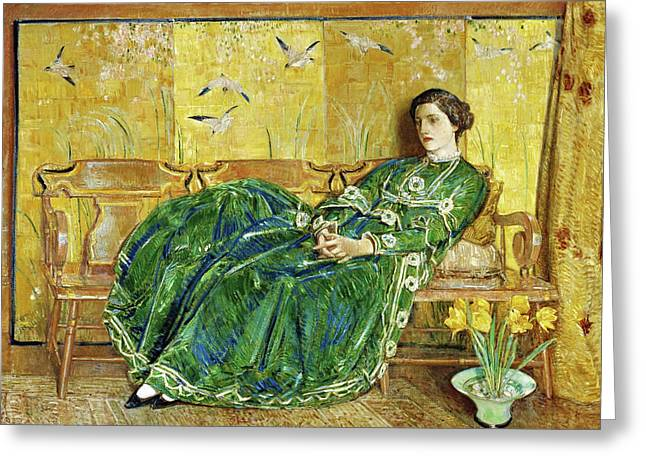 April, The Green Gown - Digital Remastered Edition Greeting Card