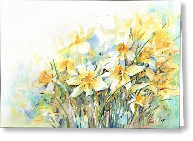 April Yellows Greeting Card