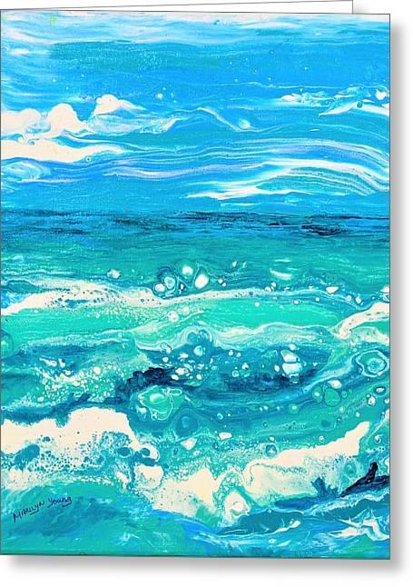 Aqua Seafoam Greeting Card